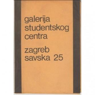 """Galerija Studentskog centra katalog izložbe """"Dimenzije realnog"""" 1968."""
